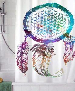 Bring Me The Horizon Dream Catcher Galaxy shower curtain