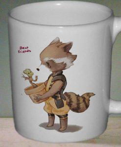 Groot and Rocket Racoon mug gift custom mug ceramic mug