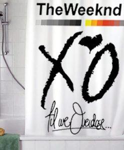 XO Weeknd Drake shower curtain