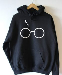 Harry Potter Lightning Glasses black Hoodies
