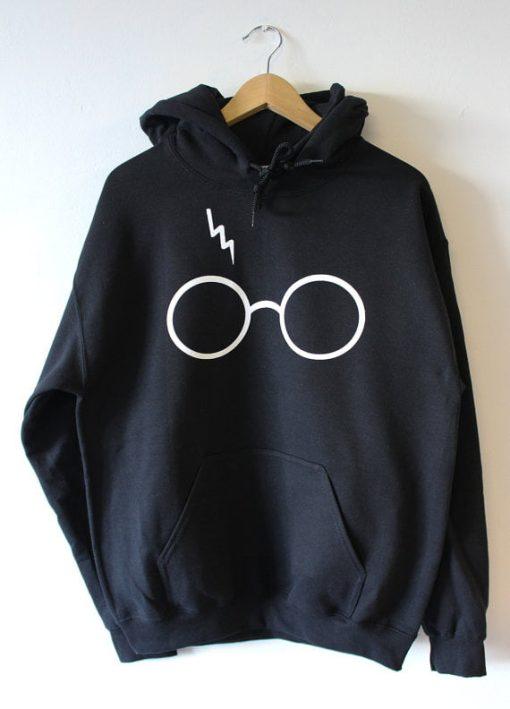 Harry Potter Lightning Glasses black Hoodies
