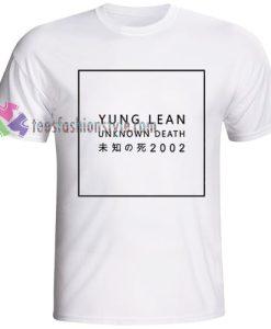 Yung Lean unknown death 2002 Tshirt