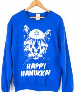 Yamaka Cat Hanukkah Sweater