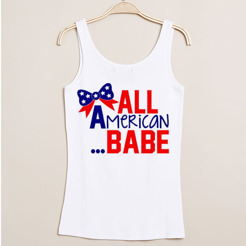 All American Babe independence day tanktop gift