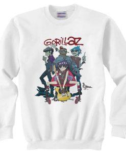 Gorillaz Alertnative Pop Punk Rock sweater gift