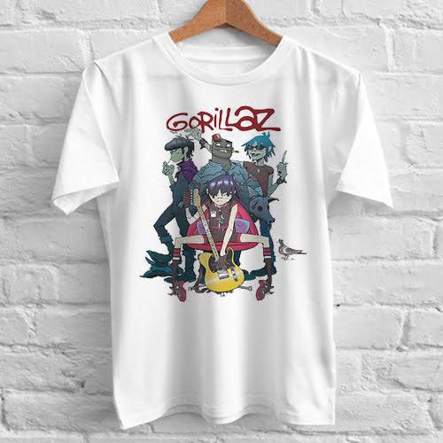 Gorillaz Alertnative Pop Punk Rock tshirt gift
