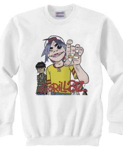 Gorillaz Alertnative Punk Rock sweater gift