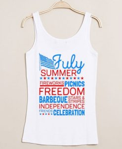 Independence Day Party july summer tanktop gift