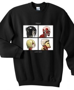 Titanz Survey Days Anime SNK Gorillaz sweater gift