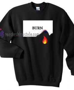 burn fire sweater gift