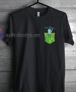 Tiny Rick Portal Pocket Rick & Morty Comedy T Shirt gift