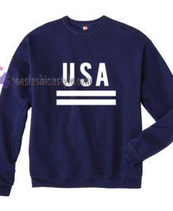 USA blue simple Sweatshirt