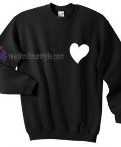 White Love Heart Sweatshirt
