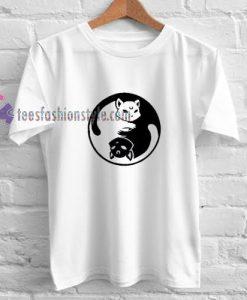 Yinyang Sailormoon Cat t shirt
