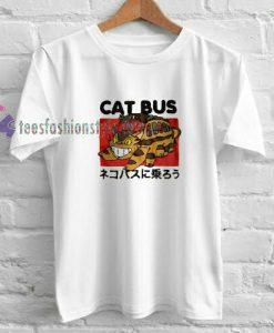 Cat Bus White t shirt