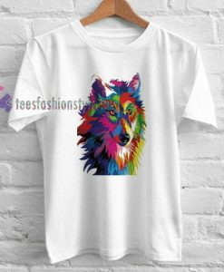 Color head Wolf t shirt