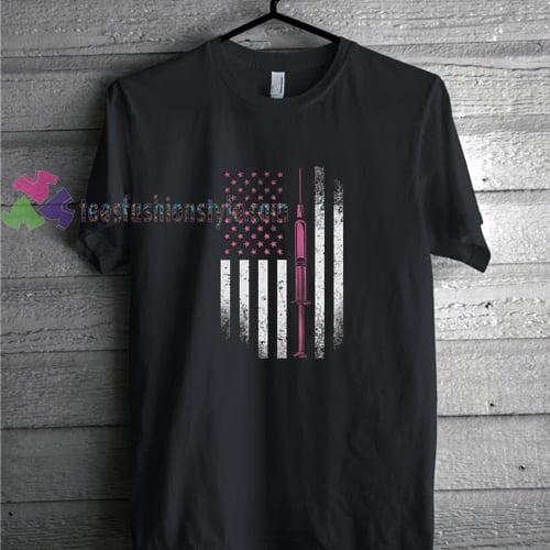 american flag nurse tshirt
