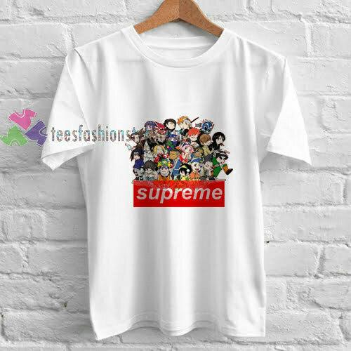 anime supreme t shirt
