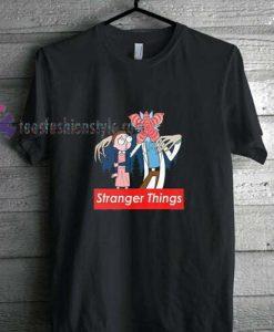cartoon stranger things supreme t shirt