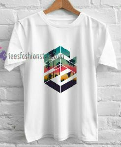 Abstrack Palm t shirt
