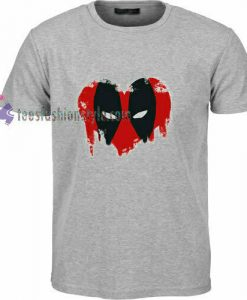 Deadpool Heart t shirt
