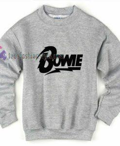Bowie Font Sweatshirt