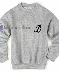 b logo sweatshirt