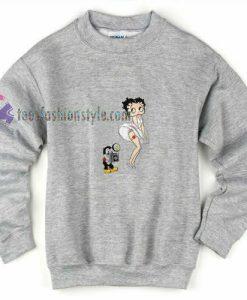 Betty Boob Camera Sweatshirt