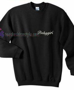 Babygirl Font Black Sweatshirt