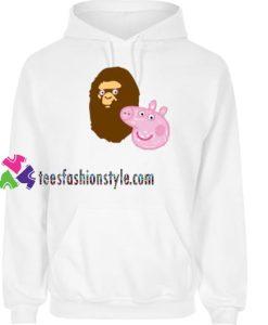 A Bathing Ape Bape Head X Peppa Pig Parody Hoodie gift cool tee shirts cool tee shirts for guys
