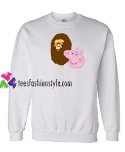 A Bathing Ape Bape Head X Peppa Pig Parody Sweatshirt Gift sweater adult unisex cool tee shirts