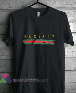 ANXIETY GCC inspired aesthetic T-Shirt gift tees unisex cool tee shirts