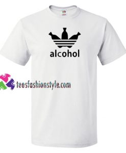 Adidas Parody Alcohol T Shirt gift tees unisex adult cool tee shirts
