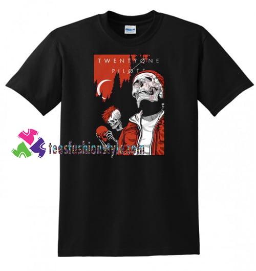 Alien And Skull Twenty One Pilots T Shirt gift tees unisex adult cool tee shirts