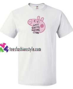 Anti Social Social Club Collab Peppa Pig Funny T Shirt gift tees unisex adult cool tee shirts