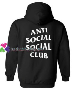 Antisocial Social Club Back Hoodie gift cool tee shirts cool tee shirts for guys