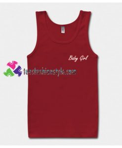 Baby Girl Font Tank Top gift tanktop shirt unisex custom clothing Size S-3XL