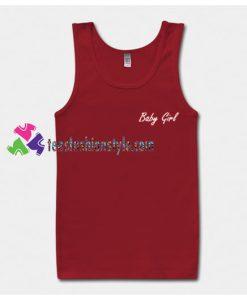 Baby Girl Font Tank Top gift tanktop shirt unisex custom clothing Size S-3XL
