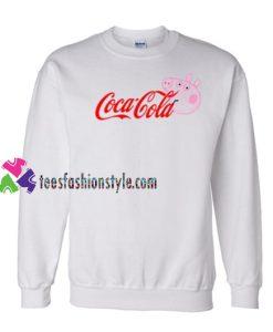 Coca Cola Coke X Peppa Pig Parody Sweatshirt Gift sweater adult unisex cool tee shirts