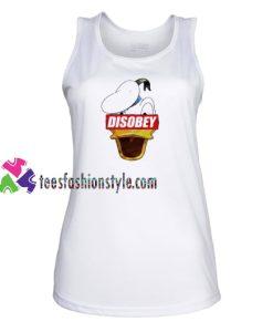 Disobey Donald Duck Disney Supreme Tank Top gift tanktop shirt unisex custom clothing Size S-3XL