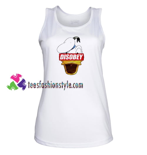 Disobey Donald Duck Disney Supreme Tank Top gift tanktop shirt unisex custom clothing Size S-3XL
