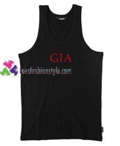 Gia Font Tank Top gift tanktop shirt unisex custom clothing Size S-3XL