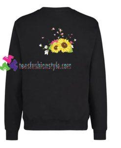 Sunflower Back Sweatshirt Gift sweater adult unisex cool tee shirts
