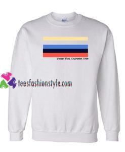 Sunset Blvd. California 1996 Sweatshirt Gift sweater adult unisex cool tee shirts