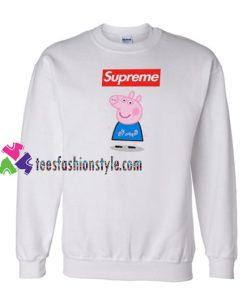 Supreme Box Blue Peppa Pig Sweatshirt Gift sweater adult unisex cool tee shirts