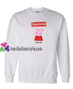 Supreme Box Red Peppa Pig Sweatshirt Gift sweater adult unisex cool tee shirts
