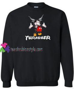 Thrasher Magazine Mouse Goat Crewneck Sweatshirt Gift sweater adult unisex cool tee shirts
