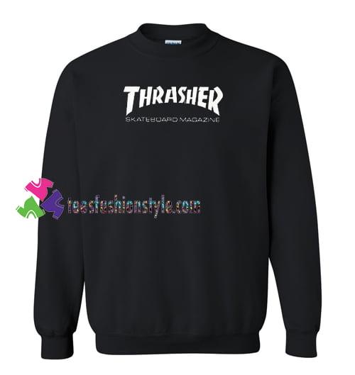 Thrasher Skateboard Magazine Sweatshirt Gift sweater adult unisex cool tee shirts