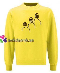 Three Faces Print Sweatshirt Gift sweater adult unisex cool tee shirts