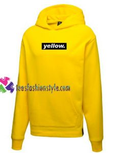 Yellow Font Hoodie gift cool tee shirts cool tee shirts for guys
